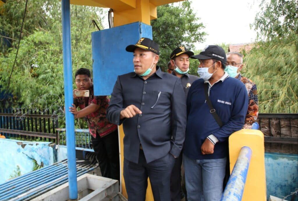 Kesal Pompa Penyedot Air Mati, Bupati Sampang Minta Pemprov Segera Lakukan Perbaikan