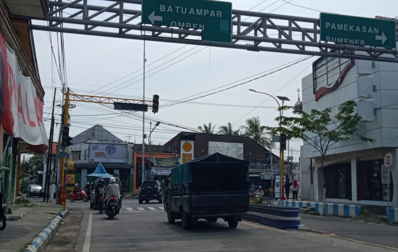 Sepekan Sudah Lampu Lalu Lintas Simpang Empat Jalan Panglima Mati, Ini Penjelasan Dishub Sampang