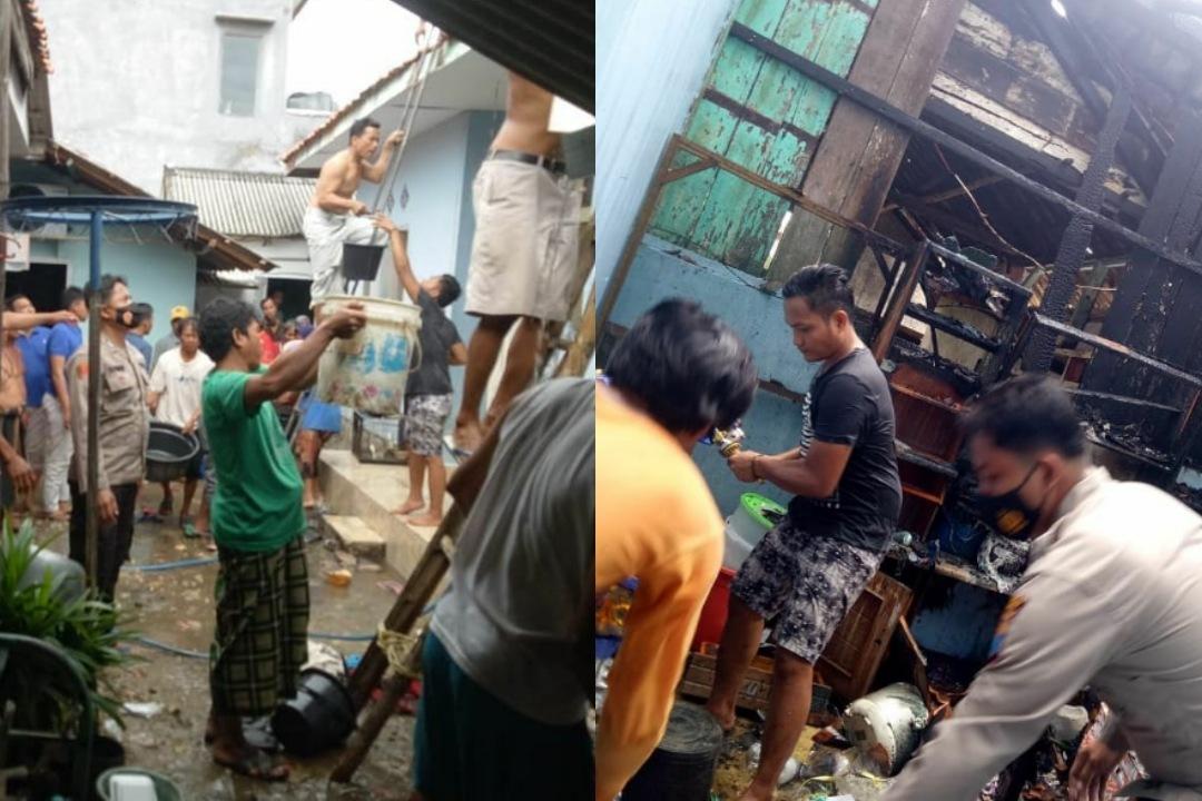 Akibat Konsleting Listrik Satu Rumah Warga Masaran Sampang Terbakar