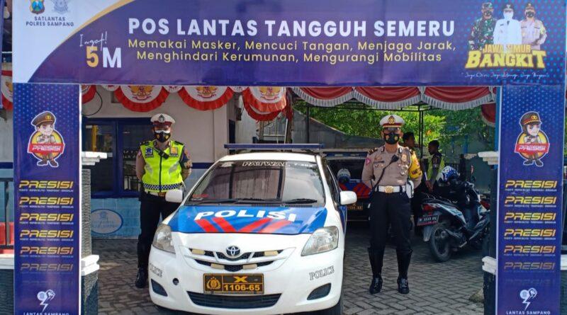 Satlantas Polres Sampang Mendirikan Pos Lantas Tangguh Semeru