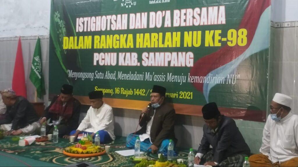 Peringati Harlah NU Ke 98, PCNU Kabupaten Sampang Gelar Istighosah Virtual