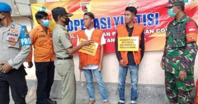 Gelar Operasi Yustisi, Satpol PP Sampang Berikan Sanksi Sosial Terhadap Pelanggar