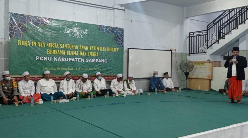 Bupati Apresiasi Buka Bersama Serta Santunan Anak Yatim dan Dhuafa PCNU Sampang