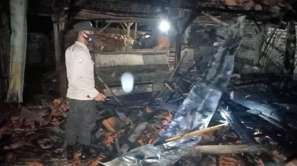 H-3 Lebaran, Rumah Milik Warga Pangarengan Sampang Malah Hangus Terbakar