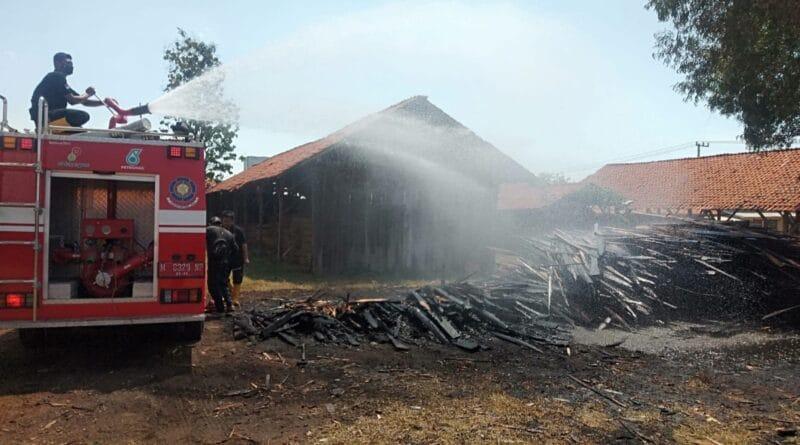 Tempat Pemotongan Kayu di Ketapang Sampang Hangus Terbakar
